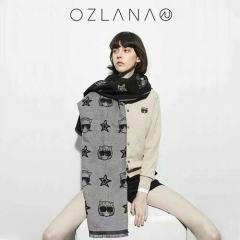 OZLANA UGG 时髦猫系列羊毛披肩 中度灰色 包邮仓 190cm X 65cm