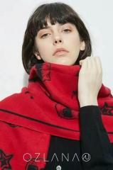 OZLANA UGG 时髦猫系列羊毛披肩 宝石红色 包邮仓 190cm X 65cm