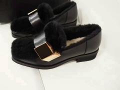 OZLANA UGG 精致小羊皮乐福鞋 黑色 包邮仓 35