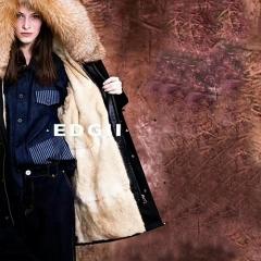 EDGII 皮草大衣 貂毛黑壳 奢华极致的北美野生貂毛 黑色 包邮仓 XL
